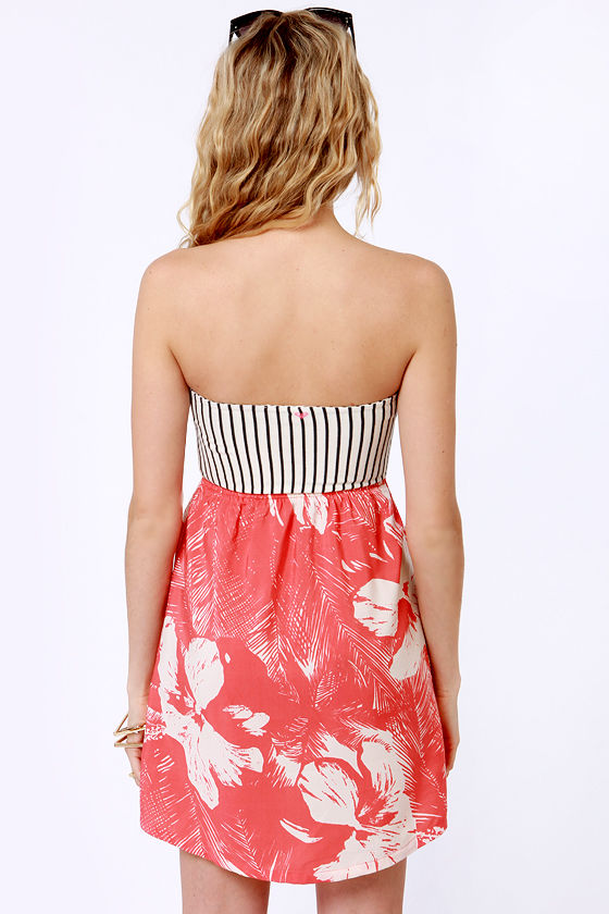 Roxy Savage 2 Coral Print Dress at Lulus.com!