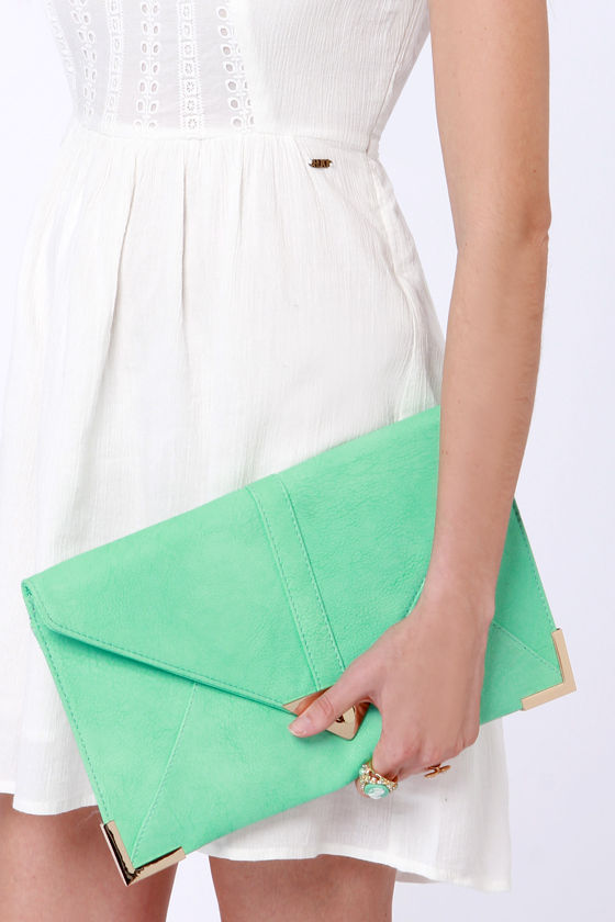 To Have and to Hold Mint Green Clutch at Lulus.com!