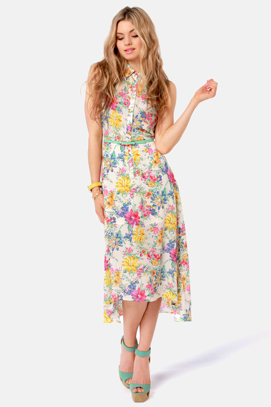 Lucca Couture Dress - Floral Print Dress - Midi Dress -  86.00 e663080b4