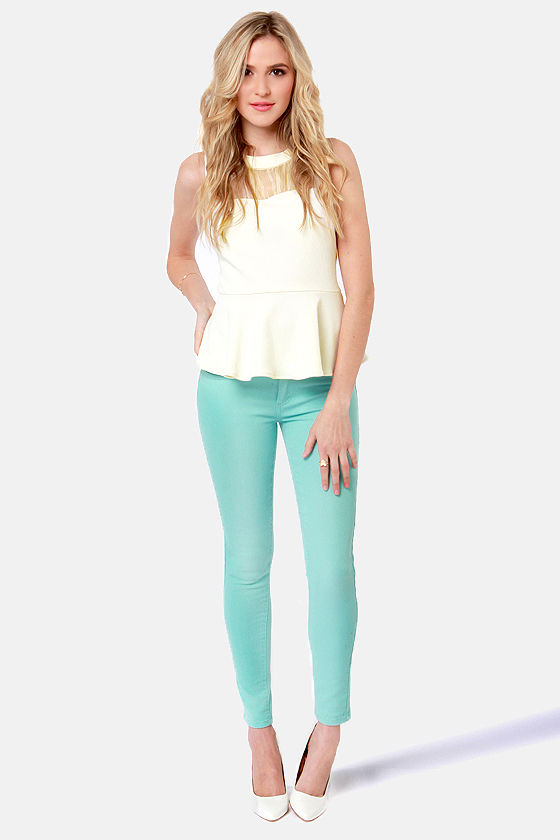Mind Your Manners Cream Peplum Top at Lulus.com!
