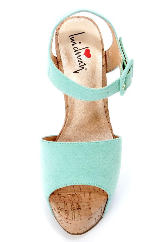 Luichiny April Daze Mint Platform Heels at Lulus.com!