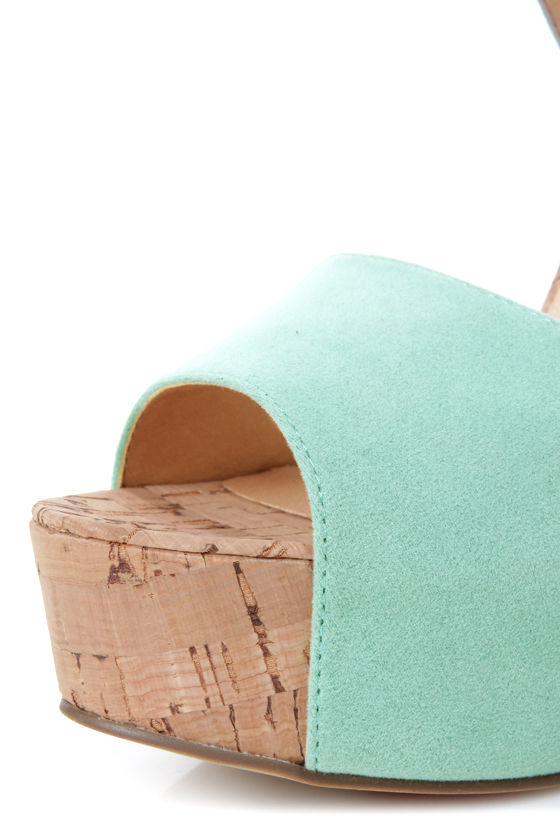 Luichiny April Daze Mint Platform Heels at Lulus.com!