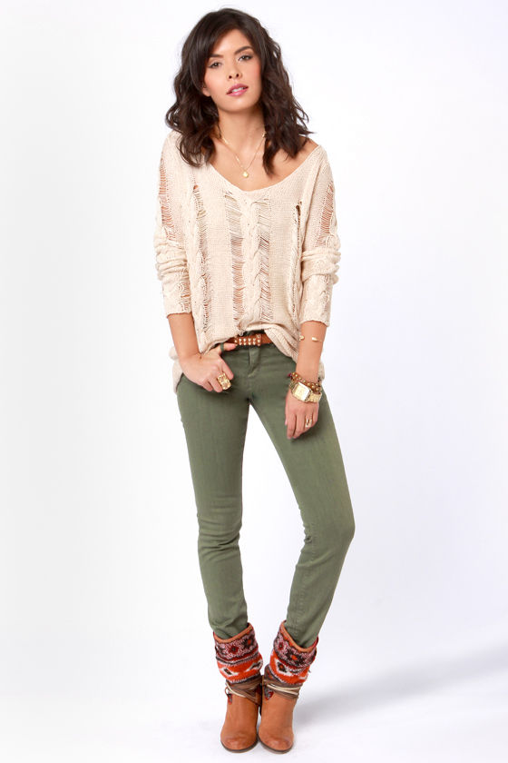 85682.jpg - Obey Lean & Mean Jeans - Olive Green Jeans - Skinny Jeans -$74.00