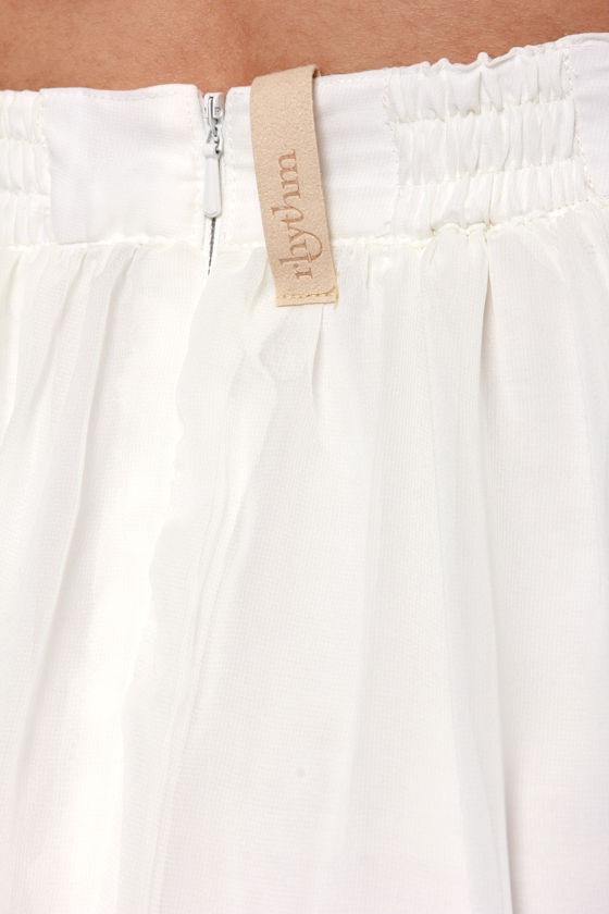 Rhythm Fadin' Out Ivory Maxi Skirt at Lulus.com!
