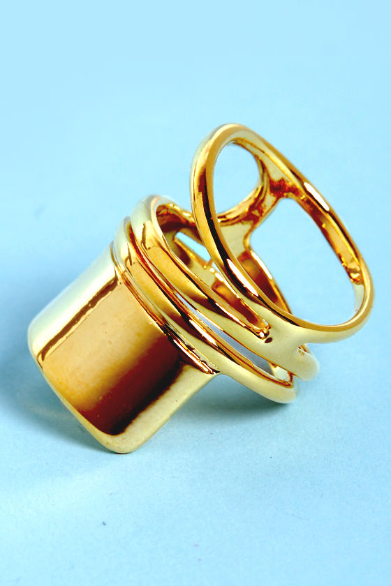 On My List Gold Statement Ring at Lulus.com!