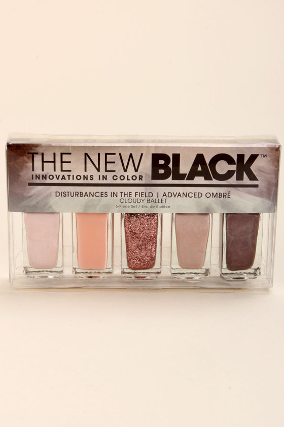 The New Black Ombre Cloudy Ballet Blush Nail Polish Set at Lulus.com!