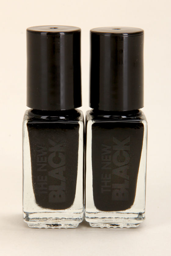 The New Black Ink Cream Shine Black Nail Polish Set at Lulus.com!