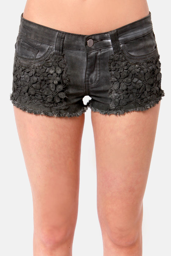 Black Sheep Grace Land Grey Shorts at Lulus.com!