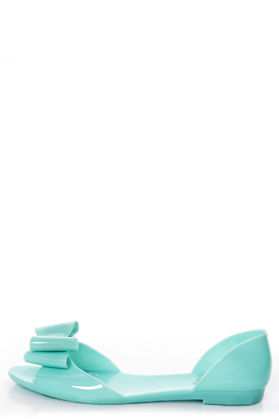 Fiebiger Sherbetfly Pastel Blue D'Orsay Jelly Flats at Lulus.com!
