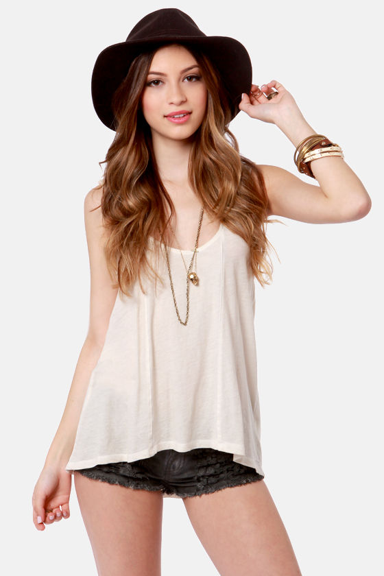Black Sheep Pattie Ann Cream Lace Top at Lulus.com!