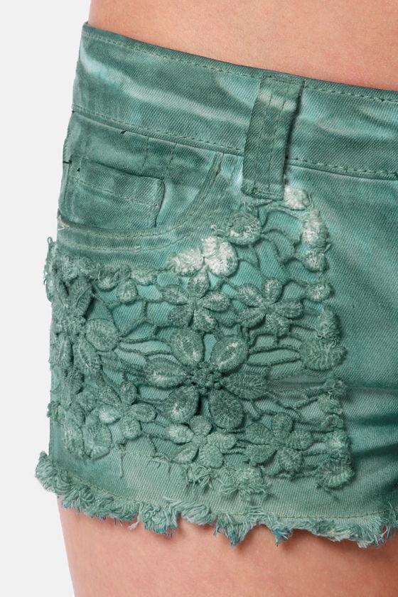 Black Sheep Grace Land Teal Shorts at Lulus.com!