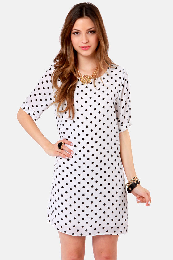 Cute Polka Dot Dress Black Dress White Dress 4500