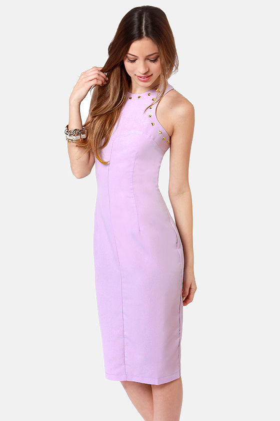 Spikes Cadet Studded Lavender Midi Dress at Lulus.com!