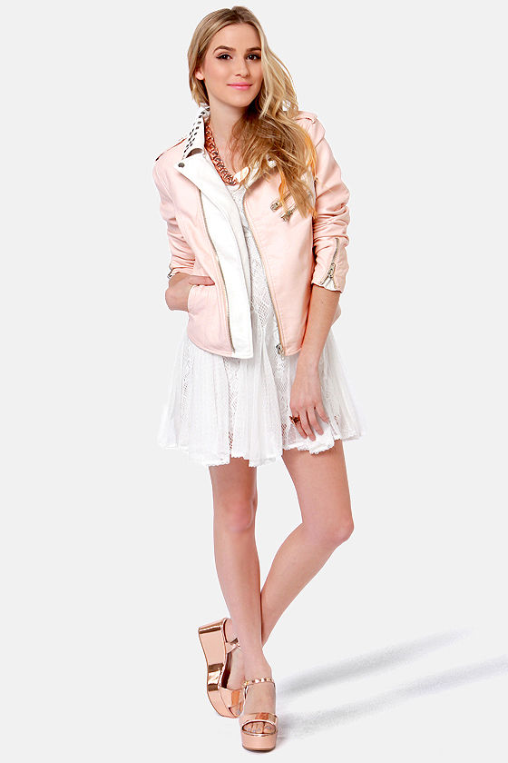 RD International Got It Bad Pink Vegan Leather Jacket at Lulus.com!