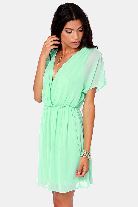Mint Green Dresses For Wedding | Pretty Mint Green Dress Chiffon Dress 41 00