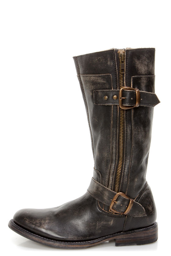acf3917f0caf Bed Stu Gogo Black Hand Wash Leather Belted Riding Boots -  249.00