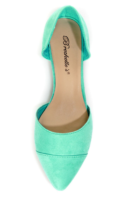 Dolley 03 Mint D'Orsay Pointed Flats at Lulus.com!