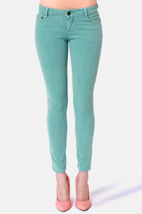 Quiksilver Central Coast Blue Corduroy Skinny Pants at Lulus.com!