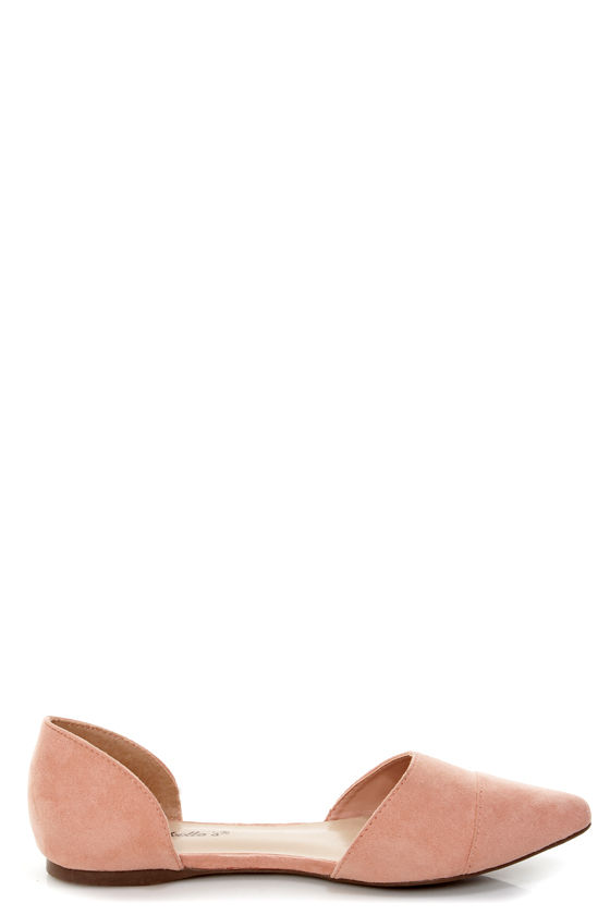 Dolley 03 Blush D'Orsay Pointed Flats at Lulus.com!