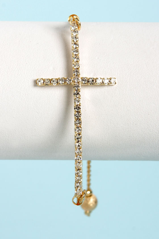 Southern Cross Gold Cross Bracelet at Lulus.com!