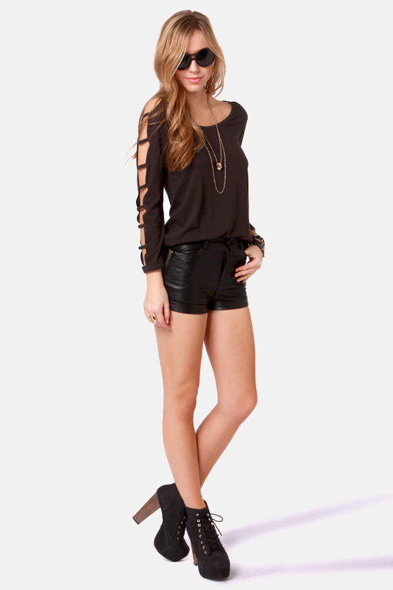 Obey Bad Reputation Charcoal Grey Top at Lulus.com!