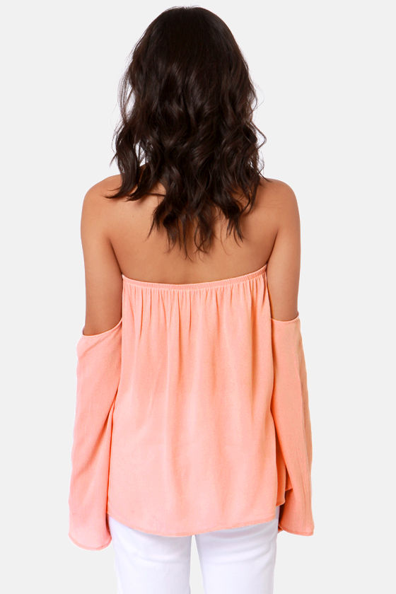 Tier Squad Off-the-Shoulder Blush Pink Lace Top at Lulus.com!