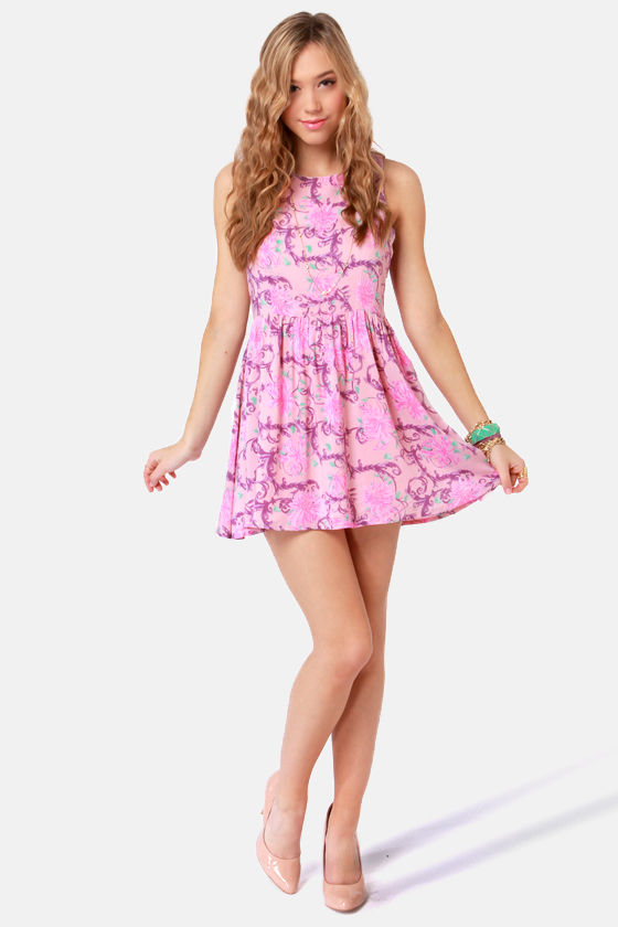 Insight Secret September Pink Floral Print Dress at Lulus.com!