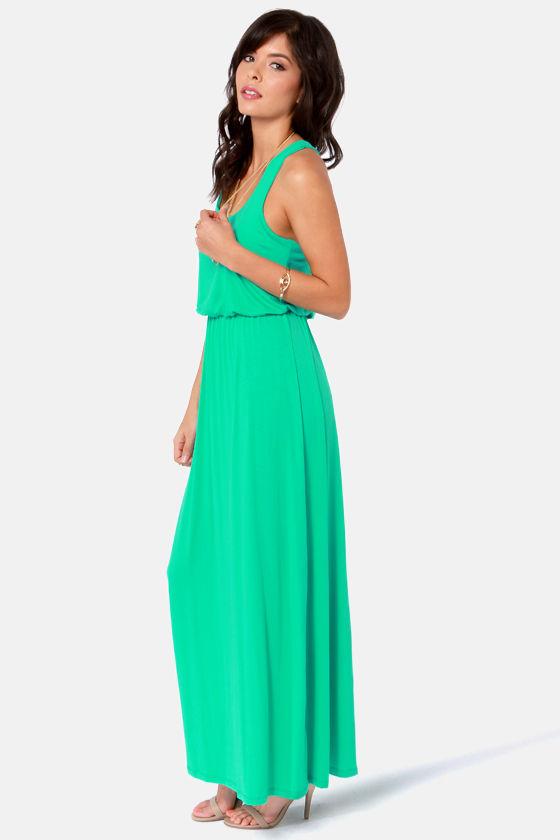 Green Thumb Sea Green Maxi Dress at Lulus.com!