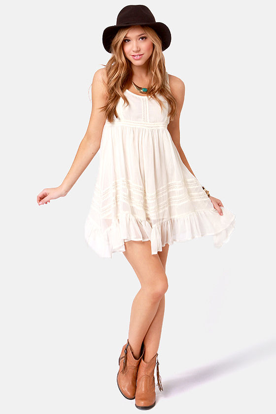 f47fa61c950 Billabong Ever So Sweet Dress - Cream Dress - Babydoll Dress -  49.50