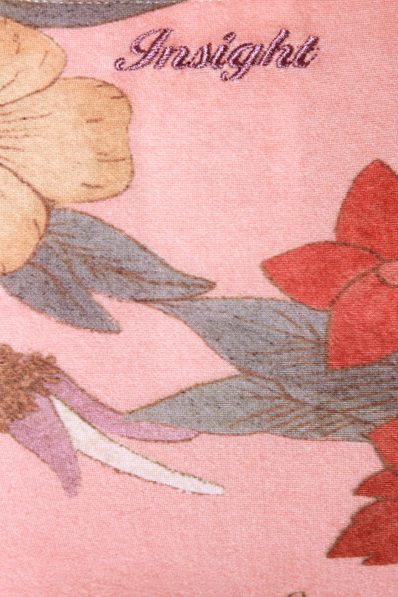 Insight Del May Peach Floral Print Bikini at Lulus.com!