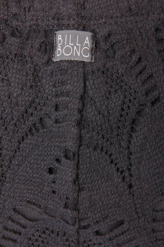 Billabong Short End Black Lace Shorts at Lulus.com!