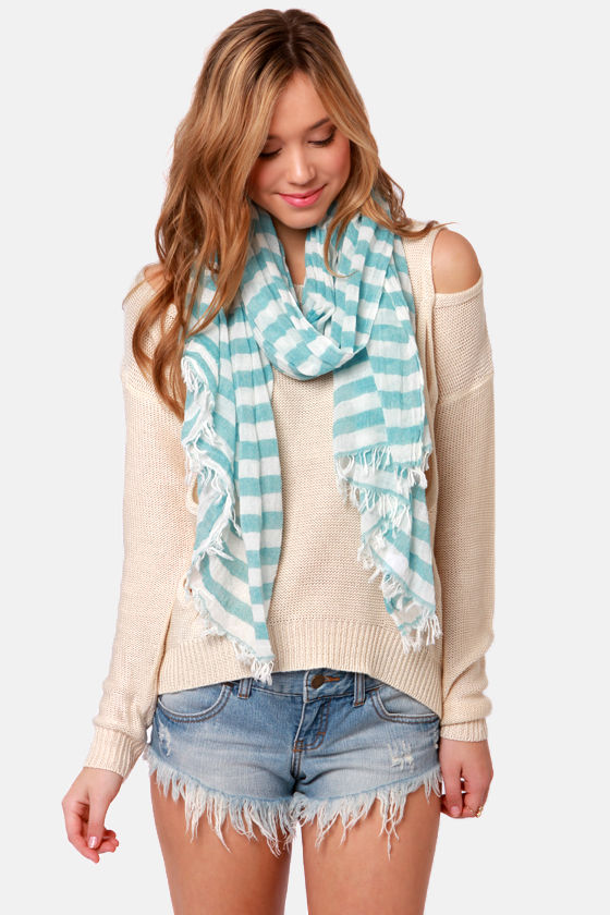 Nautical Smiles Striped Scarf at Lulus.com!