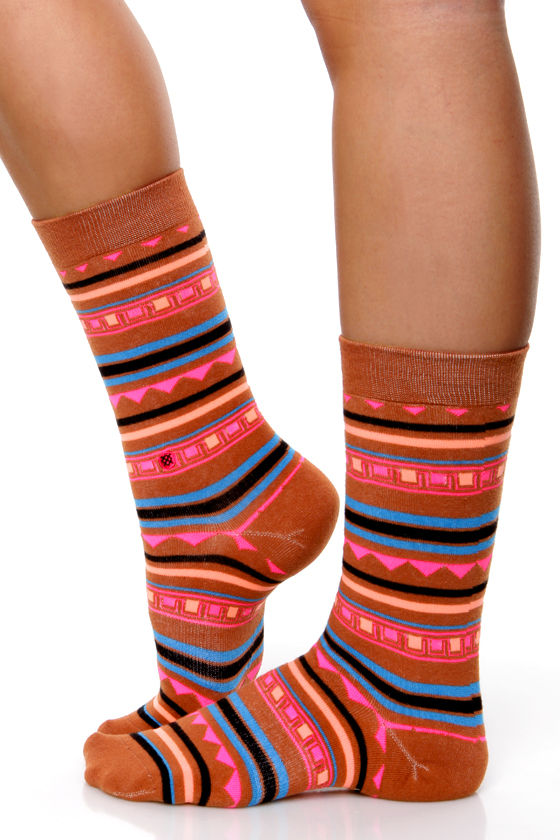 Stance Smeaton Neon Striped Socks at Lulus.com!