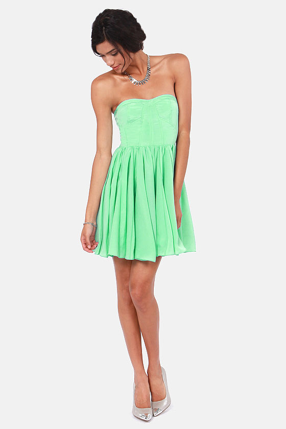 Shake Your Bustier Strapless Mint Green Dress at Lulus.com!