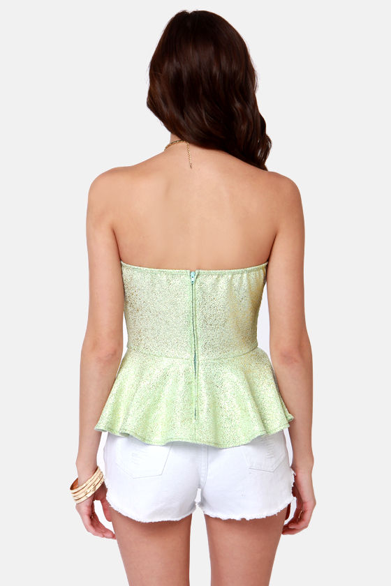 Like a Million Bucks Mint Bustier Top at Lulus.com!
