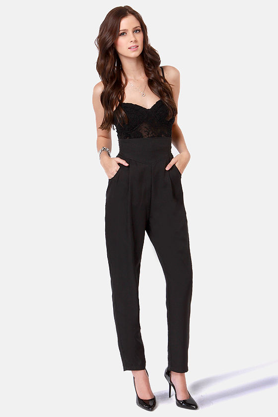 Cute Black Pants - High-Waisted Pants - Black Slacks - $49.00