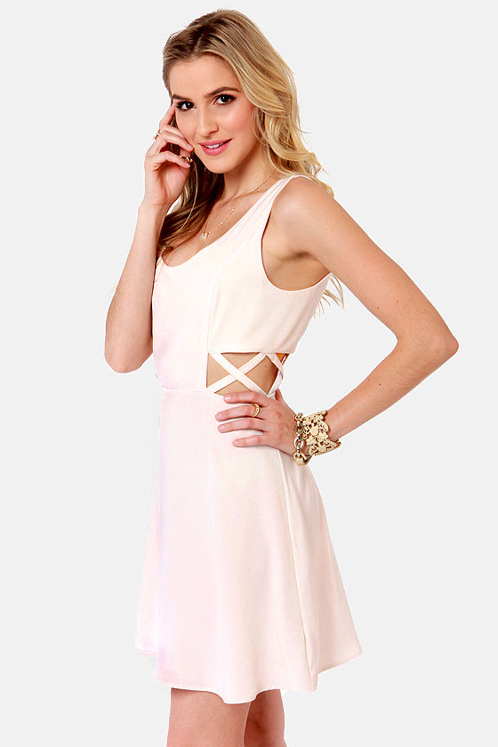 X-tra Credit Cutout Ivory Dress at Lulus.com!