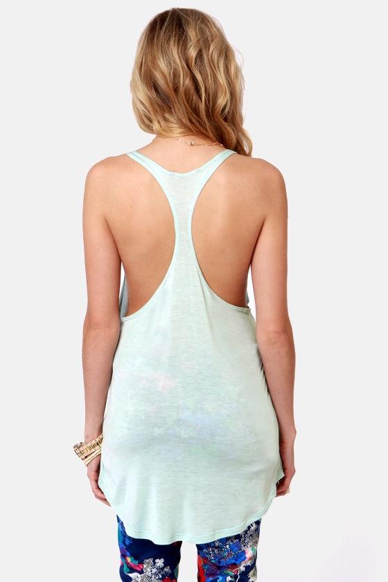 Obey Melody Mint Blue Tank Top at Lulus.com!