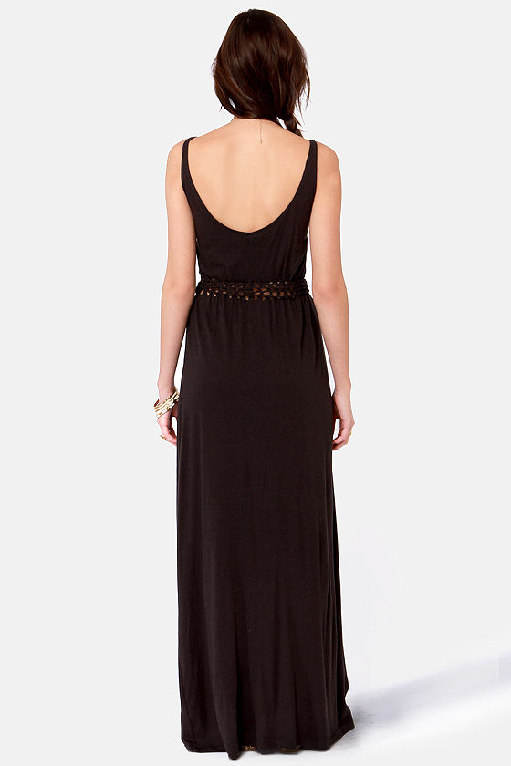 Obey Bristol Braided Washed Black Maxi Dress at Lulus.com!