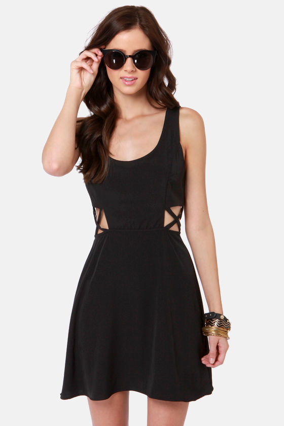 X-tra Credit Cutout Black Dress at Lulus.com!