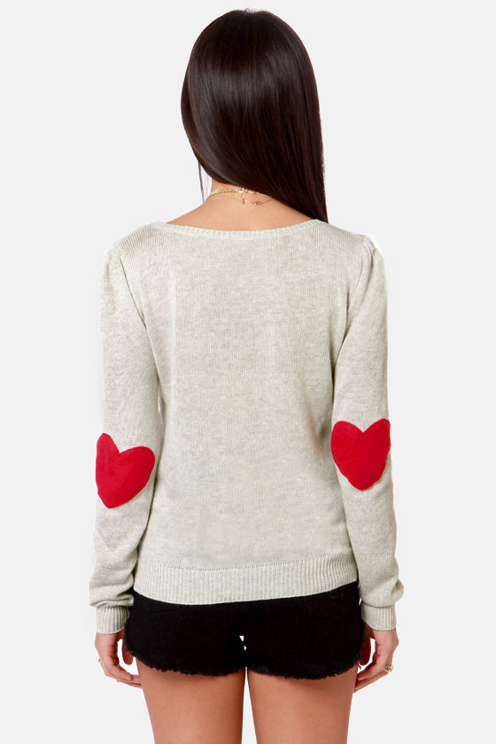Heart On Your Sleeves Beige Sweater at Lulus.com!