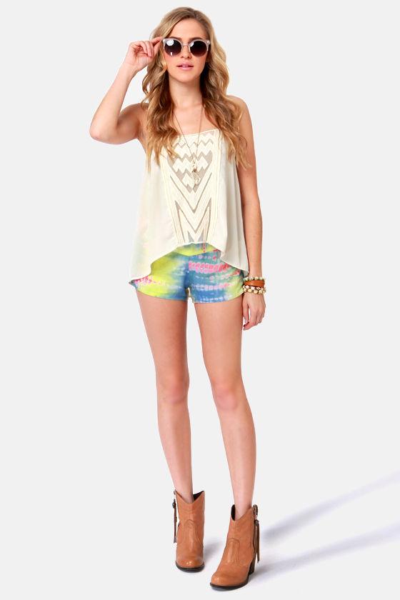 O'Neill Playa Tie-Dye Print Shorts at Lulus.com!