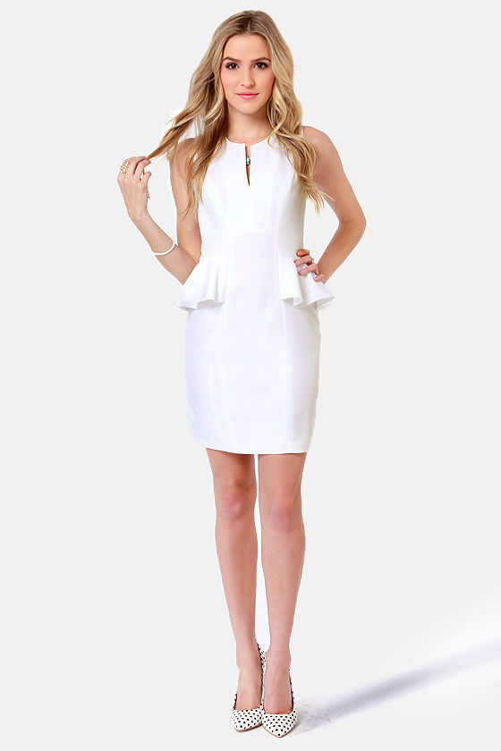 Morning, Swoon, and Night Ivory Peplum Dress at Lulus.com!