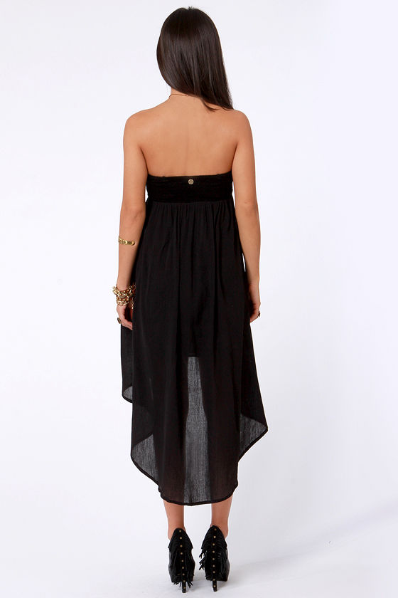 Billabong Desert Daze Strapless Black Dress at Lulus.com!