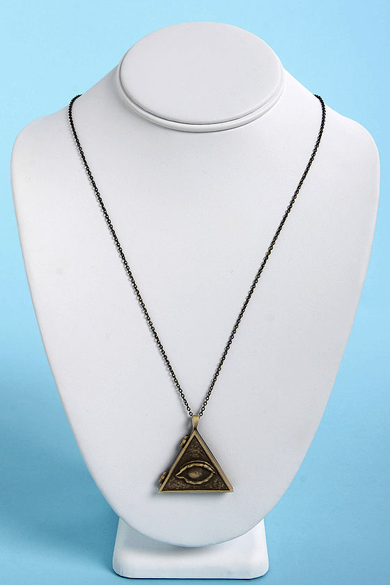 Obey Eye of Doom Brass Locket Necklace at Lulus.com!