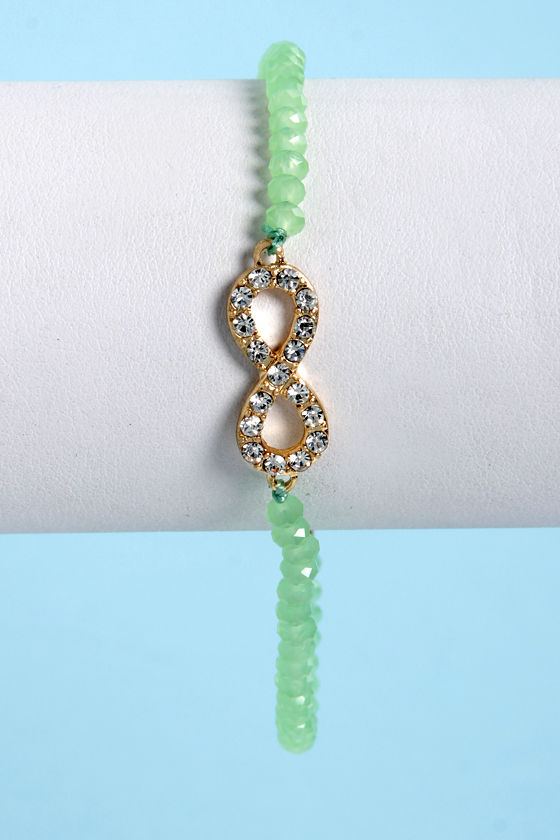 Endless Love Mint Green Infinity Bracelet at Lulus.com!
