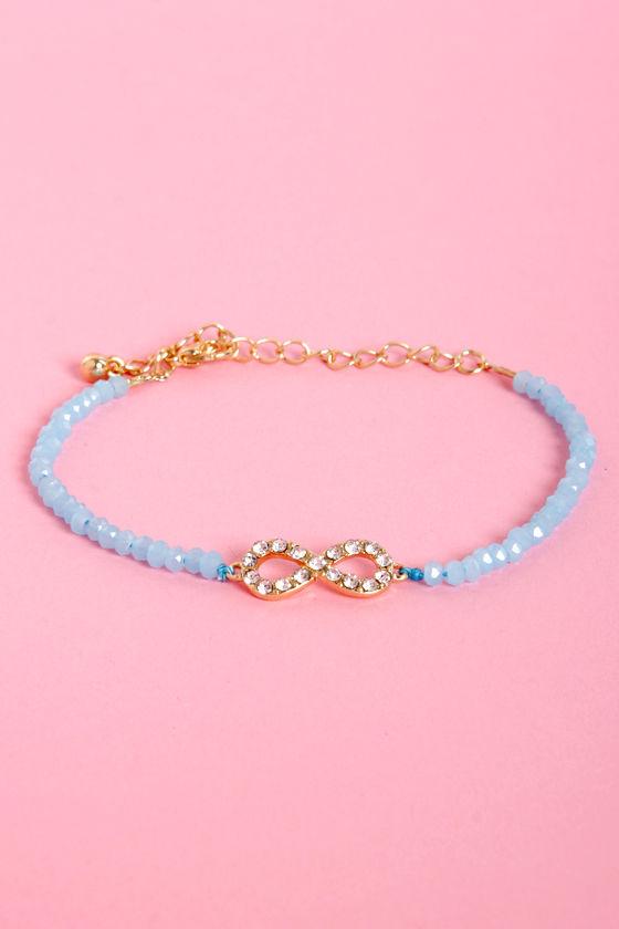 Endless Love Blue Infinity Bracelet at Lulus.com!
