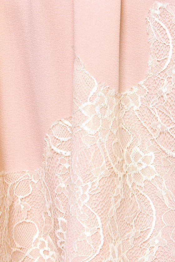 Have I Told You Lace-ly? Peach Lace Dress at Lulus.com!