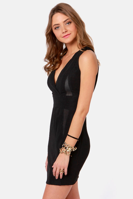 Workin' It Overtime Backless Black Dress at Lulus.com!