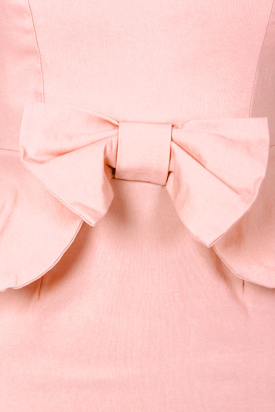 Portrait of a Lady Pink Peplum Dress at Lulus.com!